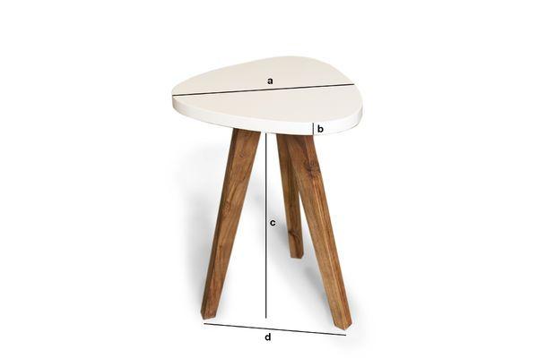 Dimensioni del prodotto Tavolino occasionale Stockholm