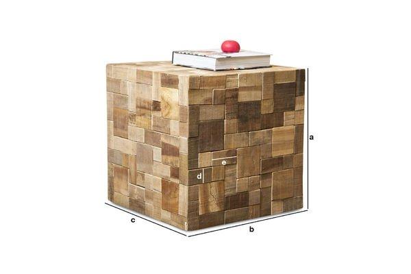 Dimensioni del prodotto Tavolino  Rubique