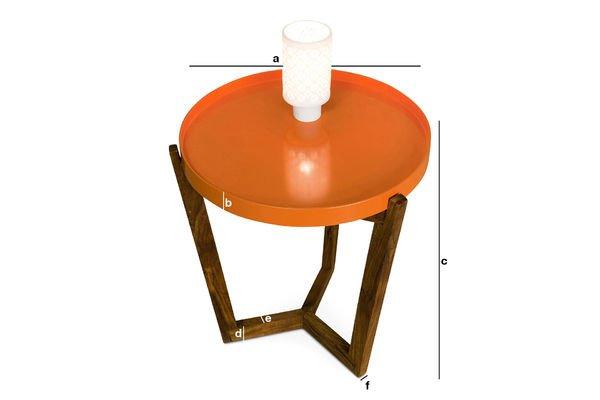 Dimensioni del prodotto Tavolino Stockholm con ripiano removibile