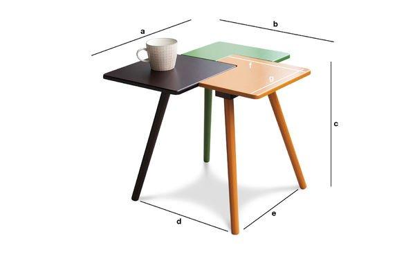 Dimensioni del prodotto Tavolino Tridy