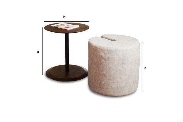 Dimensioni del prodotto Tavolino Victor