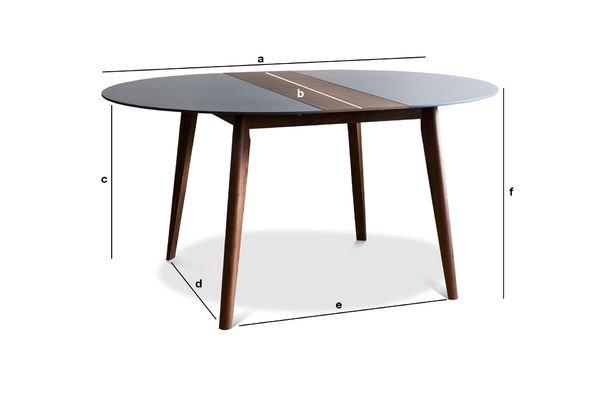 Dimensioni del prodotto Tavolo allungabile Cristina