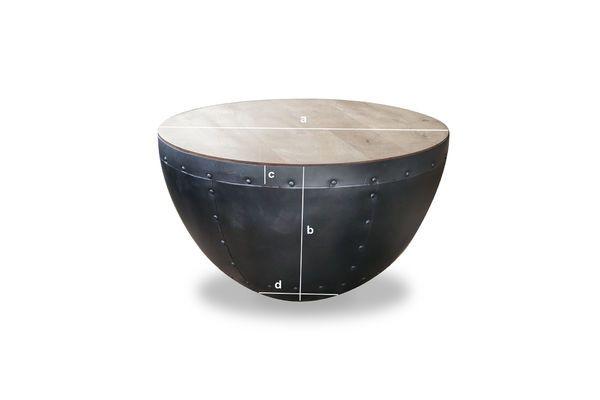 Dimensioni del prodotto Tavolo basso a rivetti Lewis