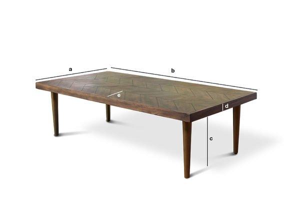 Dimensioni del prodotto Tavolo basso Alienor