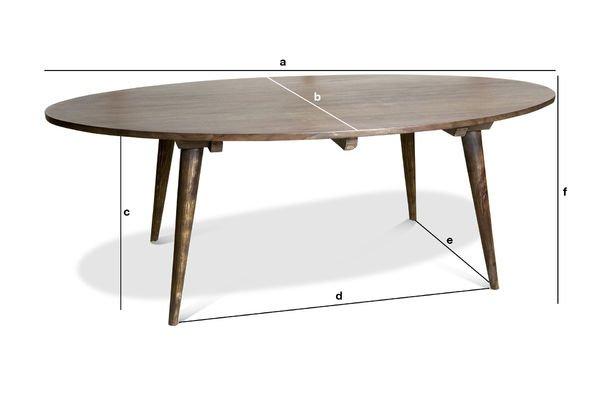 Dimensioni del prodotto Tavolo basso Bikhatz