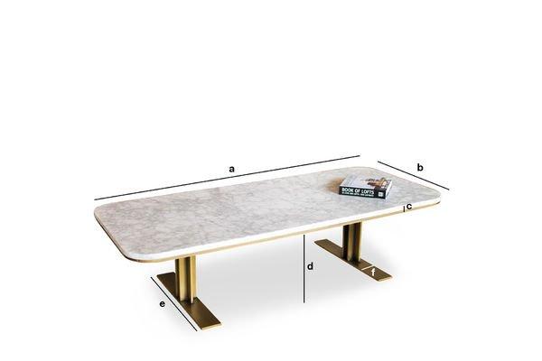 Dimensioni del prodotto Tavolo basso Carrera
