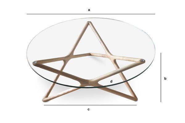 Dimensioni del prodotto Tavolo basso in vetro Estrella