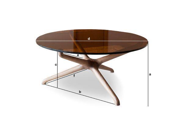 Dimensioni del prodotto Tavolo basso in vetro Nodern