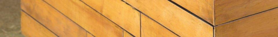 Materiali prima di tutto Tavolo basso Sheffield quadrato