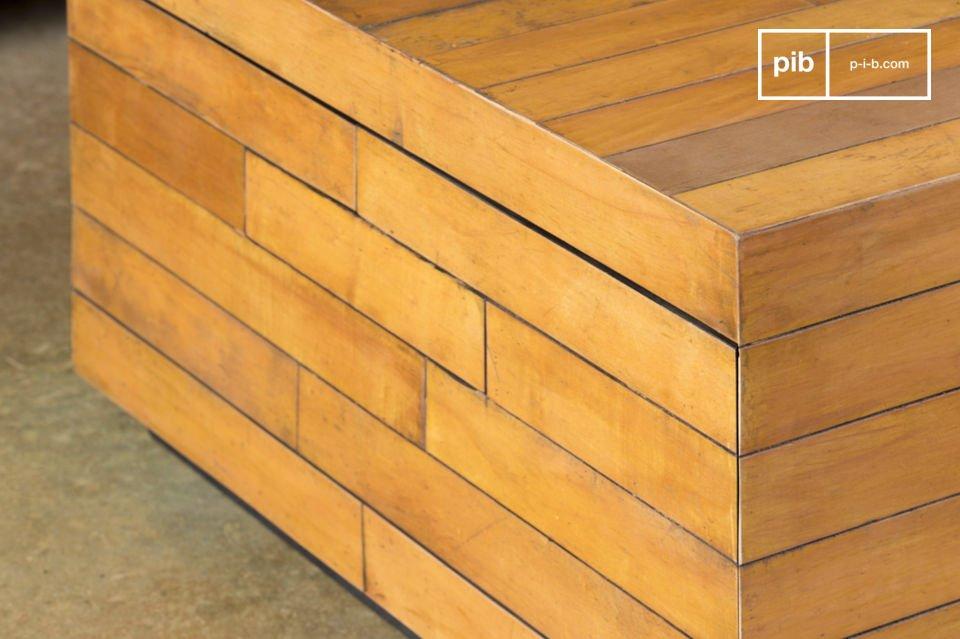 I tavolini da salotto vintage Sheffield sono tavolini realizzati con parquet riciclato da vecchie