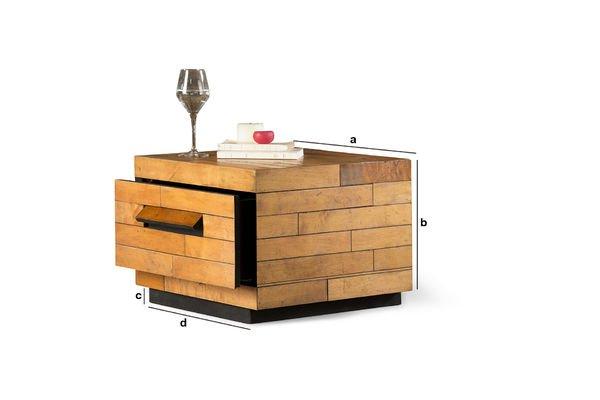 Dimensioni del prodotto Tavolo basso Sheffield quadrato