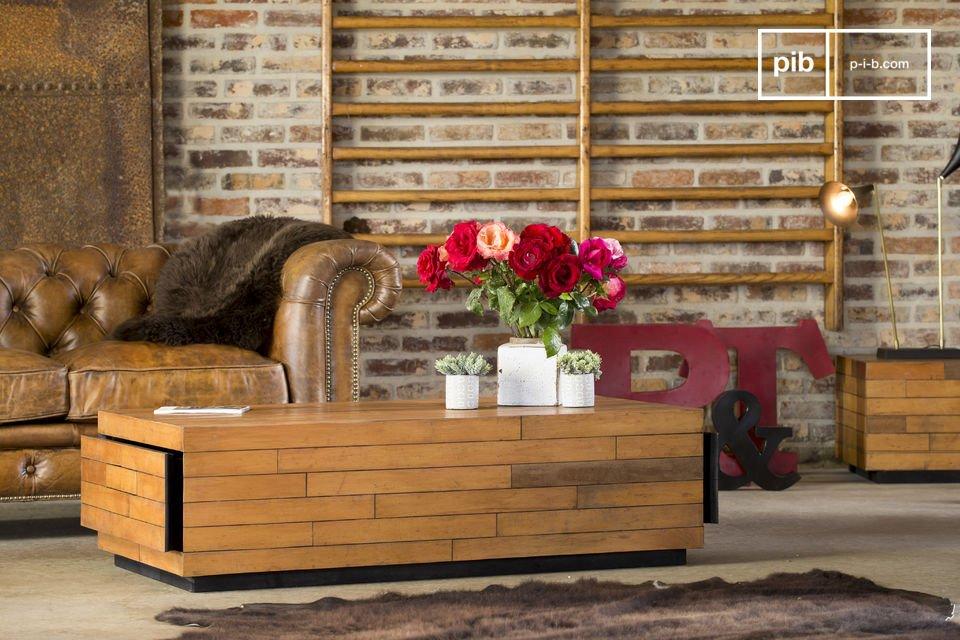 Questo tavolo basso rettangolare possiede uno stile sobrio ed elegante che gli permetterà di