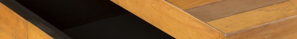 Materiali prima di tutto Tavolo basso Sheffield rettangolare