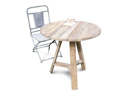 Tavolo con bordi richiudibili in legno di olmo Foto ritagliata