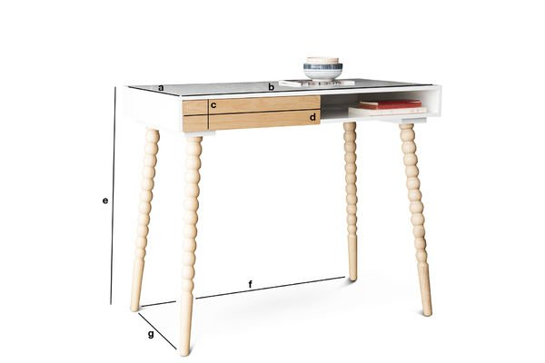 Dimensioni del prodotto Tavolo con cassetto Katalina
