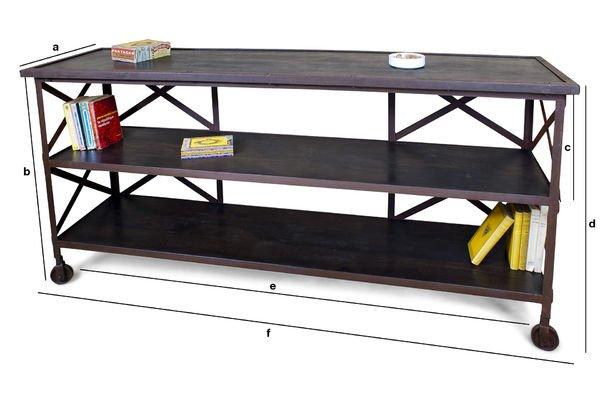 Dimensioni del prodotto Tavolo Consolle Detroit