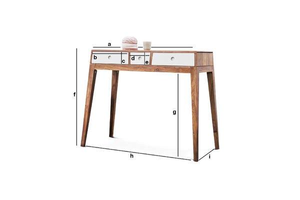 Dimensioni del prodotto Tavolo consolle Naröd