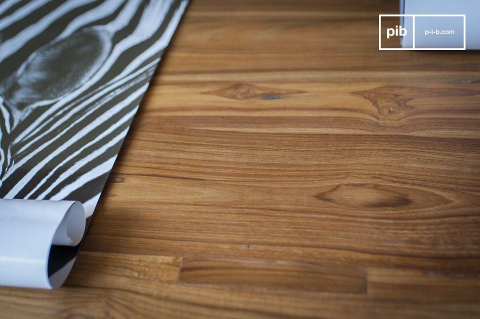Tavolo componibile che unisce stile industriale vintage e legno nobile