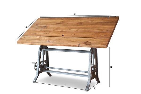 Tavolo da architetto in teak inclinable y regulable pib