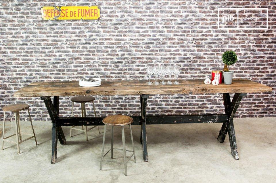 Tavolo da bar alto in legno Sullivan