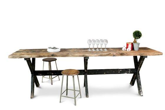 Tavolo da bar alto in legno Sullivan Foto ritagliata
