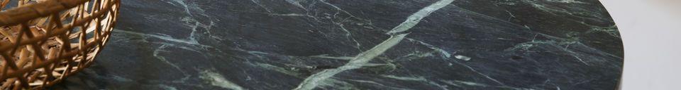 Materiali prima di tutto Tavolo da bistrò in marmo verde Lasby