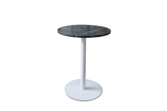 Tavolo da bistrò in marmo verde Lasby Foto ritagliata