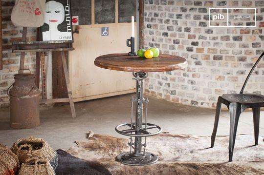 Tavolo da bistrò regolabile in teak Salvage