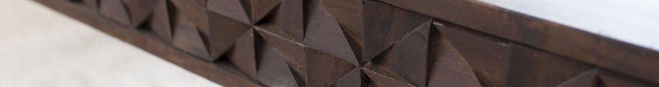 Materiali prima di tutto Tavolo da caffè in legno Balkis