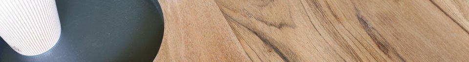 Materiali prima di tutto Tavolo da caffè in legno Bascole