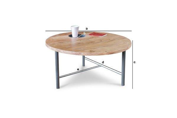 Dimensioni del prodotto Tavolo da caffè in legno Bascole