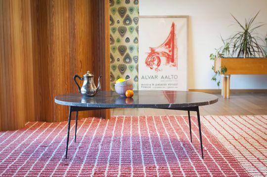 Tavolo da caffè in marmo verde Maybury