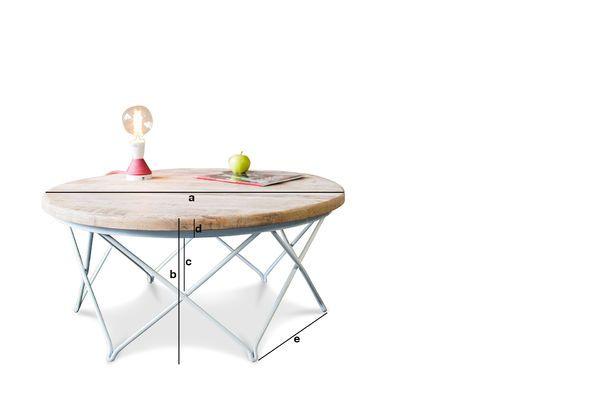 Dimensioni del prodotto Tavolo da caffè Myrte
