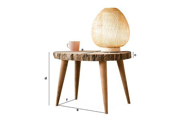 Dimensioni del prodotto Tavolo da caffè Superlip