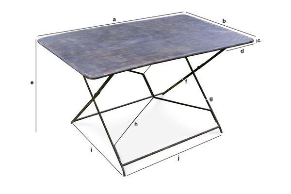 Dimensioni del prodotto Tavolo da Giardino Compiègne