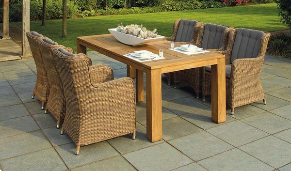 tavolo da giardino con poltrone