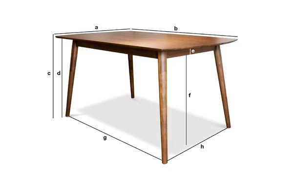 Dimensioni del prodotto Tavolo da pranzo Chinatown
