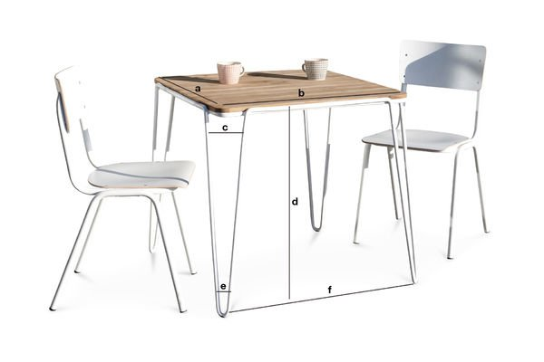 Dimensioni del prodotto Tavolo da pranzo Espace