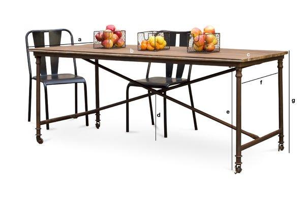 Tavolo da pranzo grenelle legno vecchio su ruote pib - Dimensioni tavolo da pranzo ...