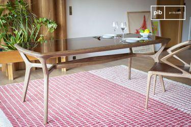 Tavolo da pranzo in legno e vetro Dagsmark