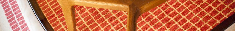 Materiali prima di tutto Tavolo da pranzo in legno e vetro Dagsmark
