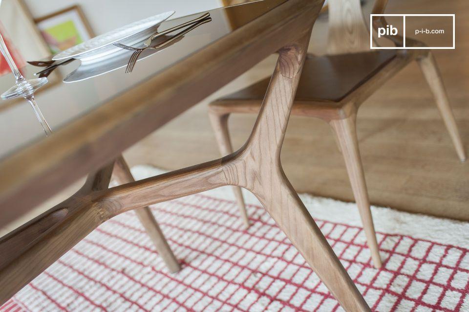 Tavoli In Legno E Vetro : Tavolo da pranzo in legno e vetro dagsmark finiture sobrie pib
