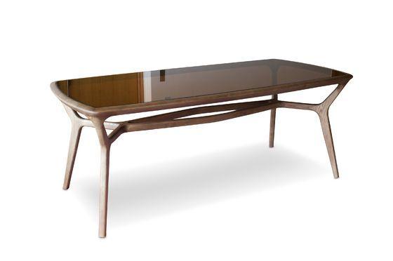 Tavolo da pranzo in legno e vetro Dagsmark Foto ritagliata