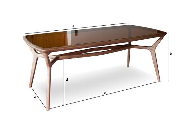 Dimensioni del prodotto Tavolo da pranzo in legno e vetro Dagsmark