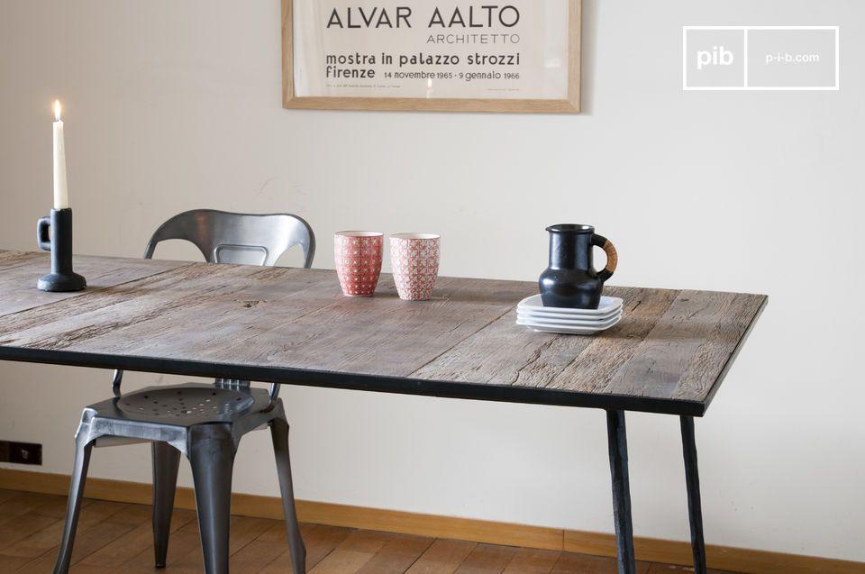 Tavolo da pranzo in legno naturale Sherman - raffinato | pib
