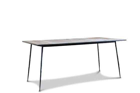 Tavolo da pranzo in legno naturale Sherman Foto ritagliata
