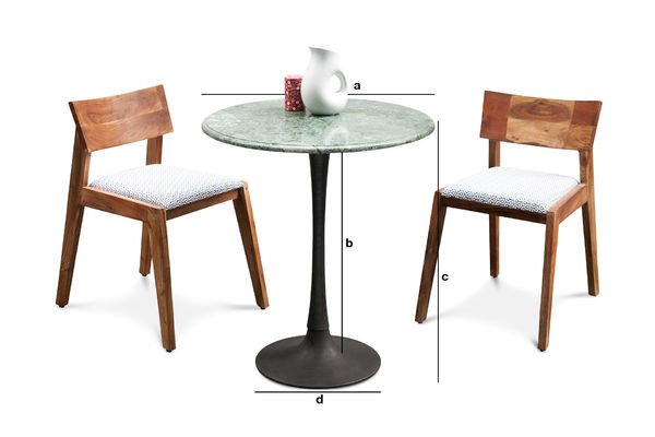 Dimensioni del prodotto Tavolo da pranzo in marmo