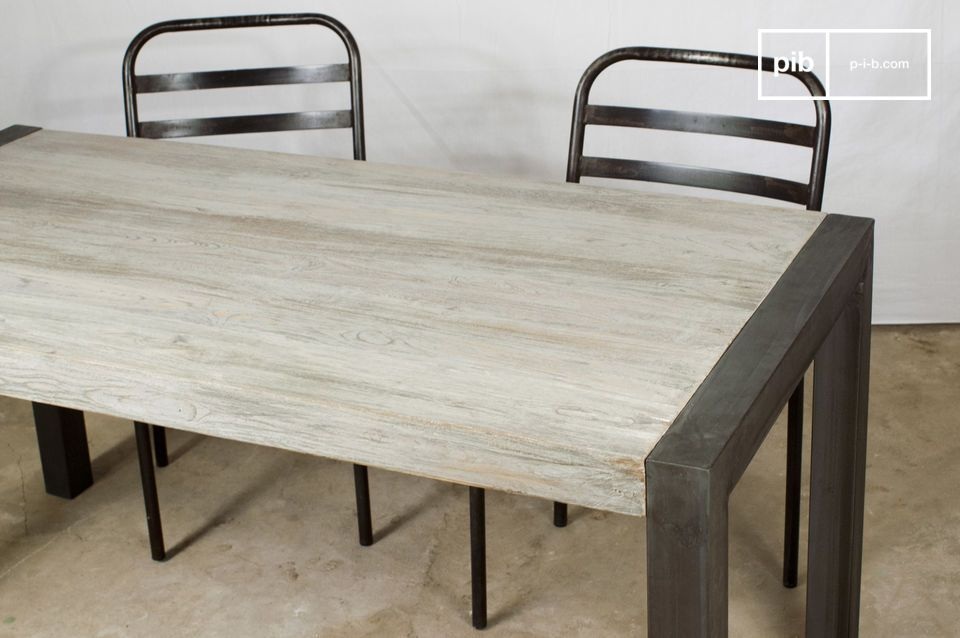 Tavolo da pranzo in teak riciclato | pib
