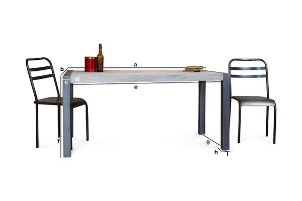 Tavolo da pranzo in teak riciclato pib - Dimensioni tavolo da pranzo ...