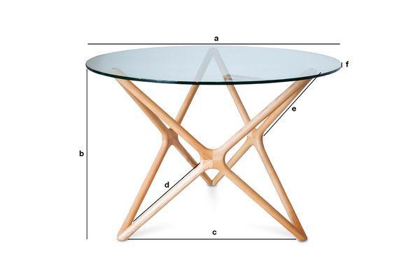 Dimensioni del prodotto Tavolo da pranzo in vetro Estrella